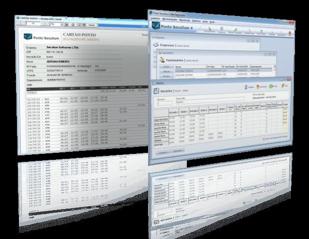 Software de Ponto Secullum 4 Telas